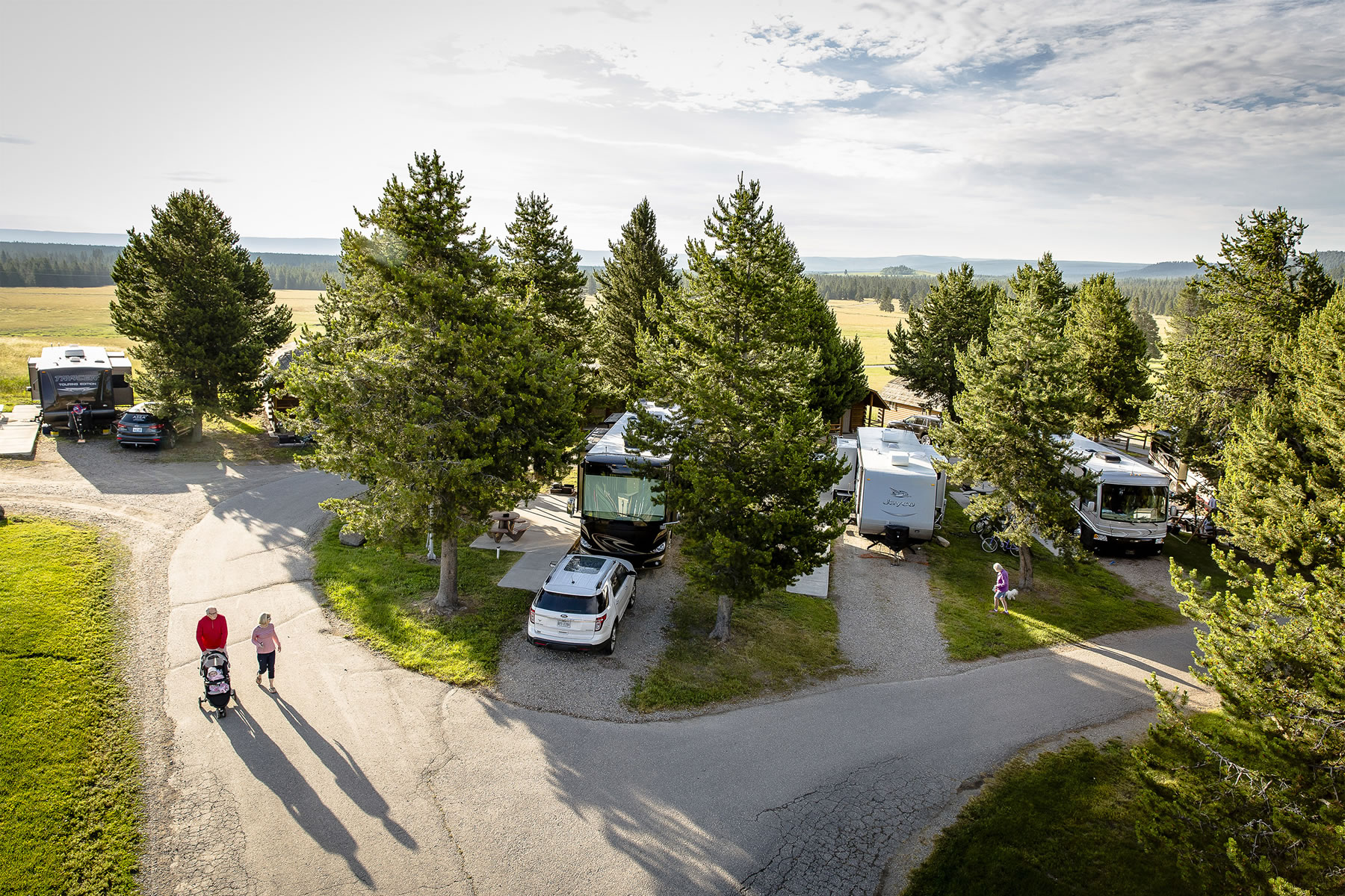 RV/Tent Sites Offer Camping Comfort | Yellowstone Park ...
